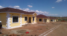 Some of the Guoji Town House under construction in Lilongwe's Area 49