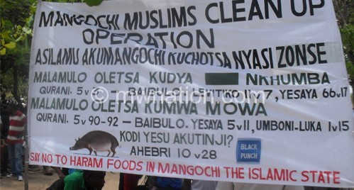 Extremism such as the Mangochi pork saga above breeds  problems and (inset) is Sheikh Malunga