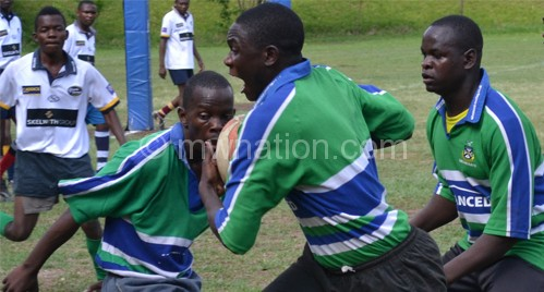 Rugby action captured at Blantyre Sports Club