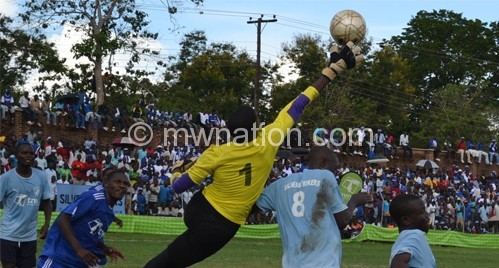 part of the Silver / Wanderes game that was marred by violence at Balaka Stadium