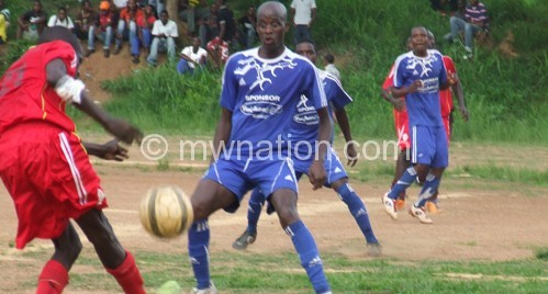Part of Saturday's action between Airborne and Black Eagles