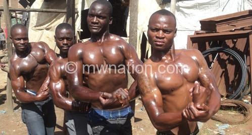 Ichocho's product: (L-R) Muhawa, Chavula, Manthenga and  Kelvin