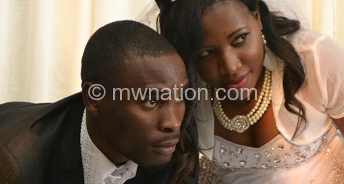 The newly-weds: Mr and Mrs Ng'ambi