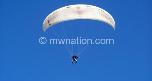 Masauli paragliding in the air