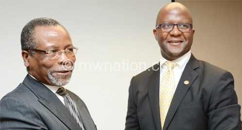 New partners: Atupele and Chapola after the announcement