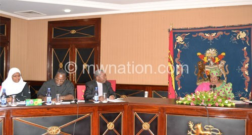 Banda and the PAC leadership during the meeting yesterday
