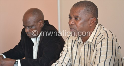 Young Chimodzi (R) and Jack Chamangwana started their rough reigns as Flames head coach and deputy