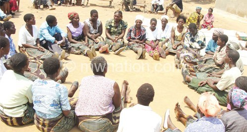 Mzimba women in men's circles