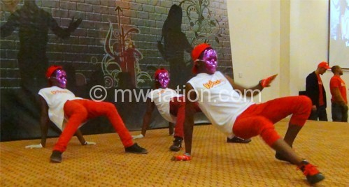 The Movement Dance crew entertaining patrons at the launch