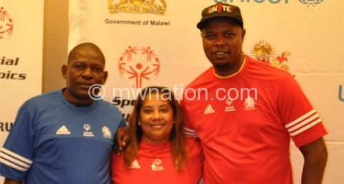 Rearing to go: Waya (L), Ellis and Masinga