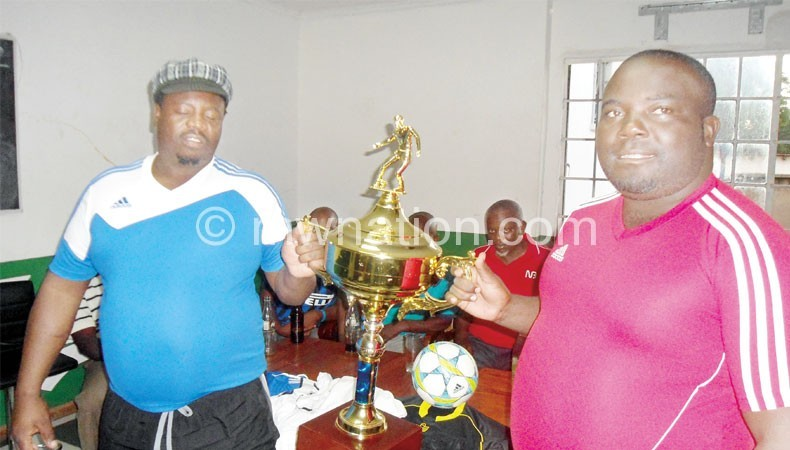 Nomads chief supporter Yona Malunga and his BB counterpart Isaac Jomo Osman