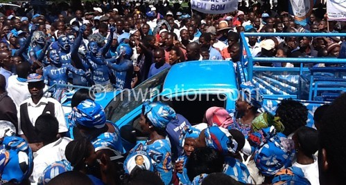 DPP supporters at the event venue