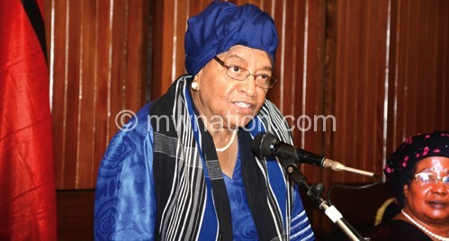 Johnson-Sirleaf: Women movement has lost position
