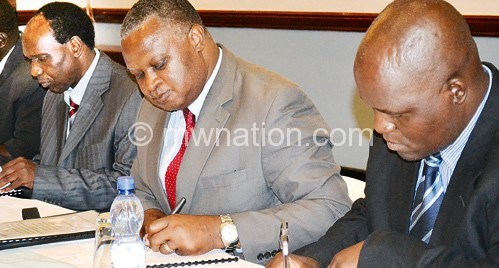 A cross section of the alliance leaders signing the MoU on Tuesday