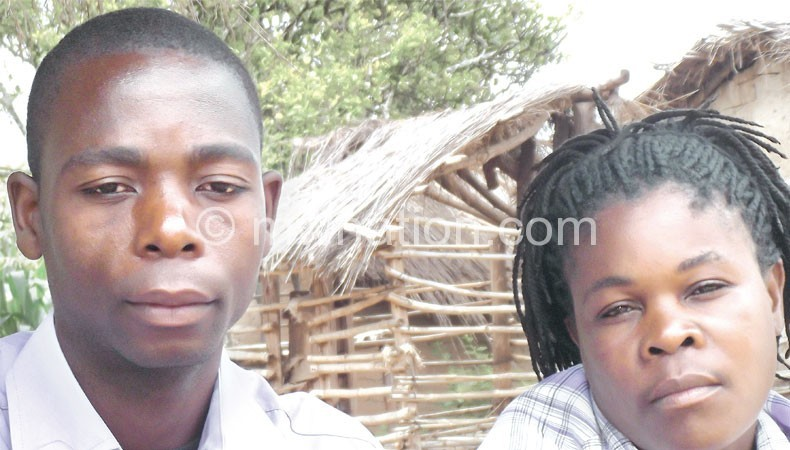 Bester and his wife: He is now a role model in his village