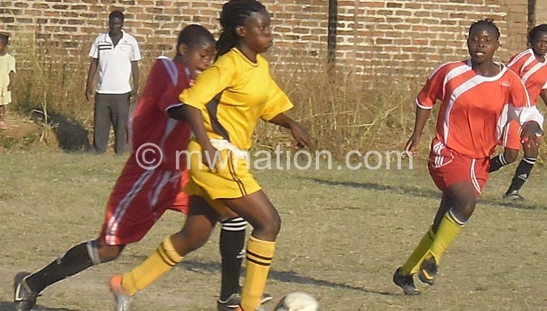 Blantyre Zero (in yellow) take on ATU Ladies in last year's contest