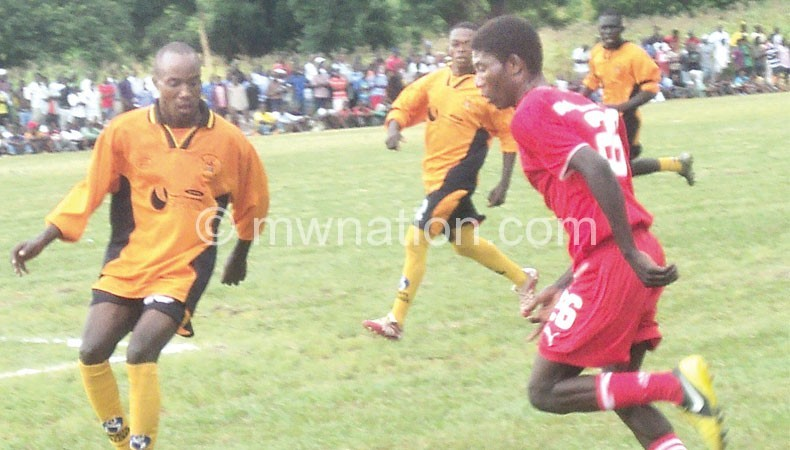 Part of action between Blantyre United and Chitakale FC