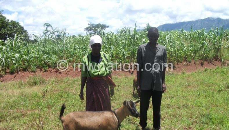 Some of the farmers benefitting from the programme