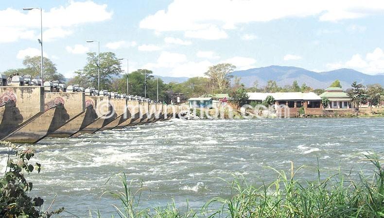 The Liwonde barrage along the Liwonde-Mangochi road