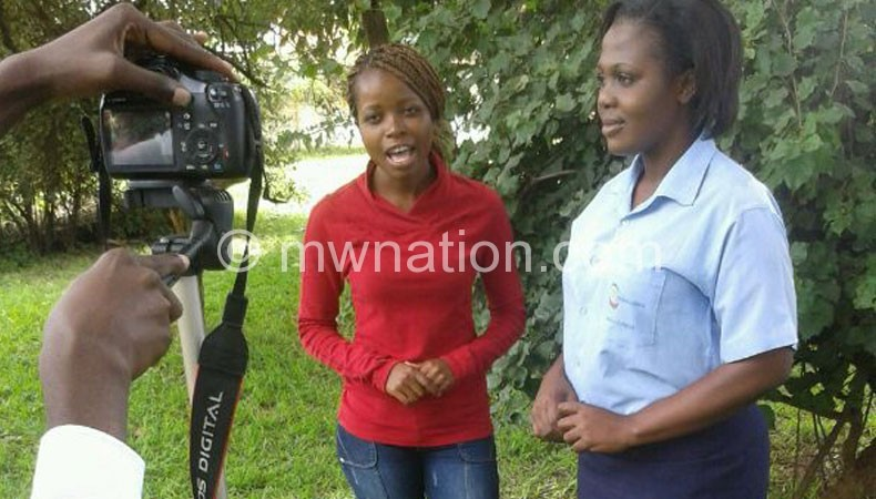 Action as Tikaone Malawi shooting is in progress