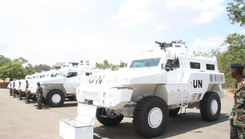 Flashback: Armoured personnel carriers being commissioned for the UN peacekeeping mission in the DRC