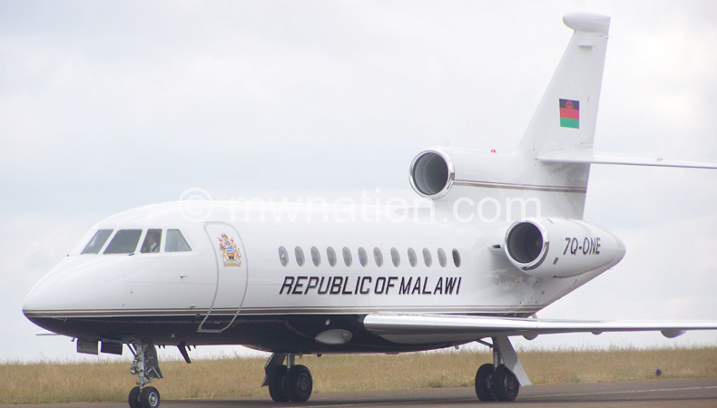 Was used to offset outstanding debt: The 'sold' presidential jet