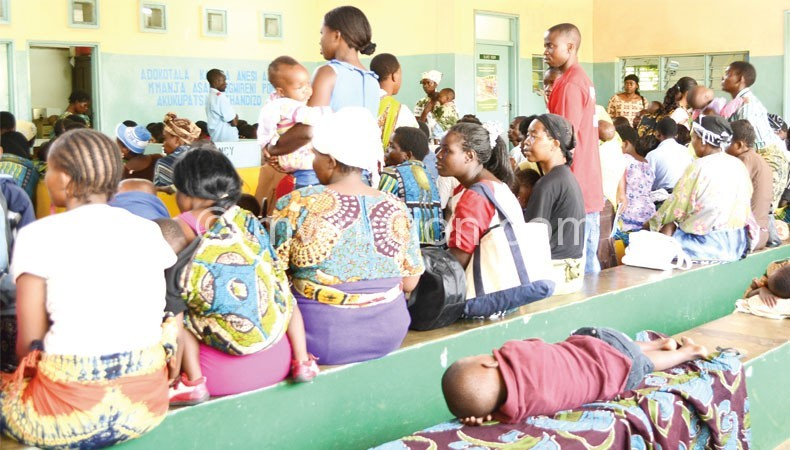 Flashback: Patients waiting to receive treatment at KCH