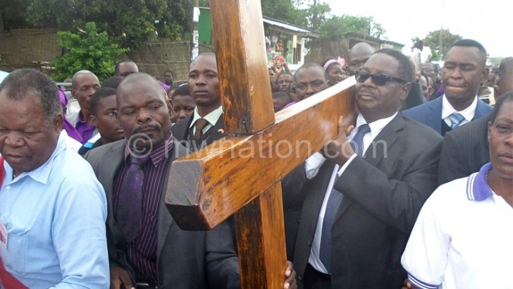 Mutharika causes commotion as he joins Way of Cross