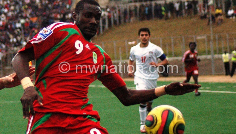 Reviving career after four years out of action: Mwafulirwa (L)