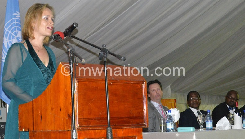UN resident coordinator in the country Mia Seppo