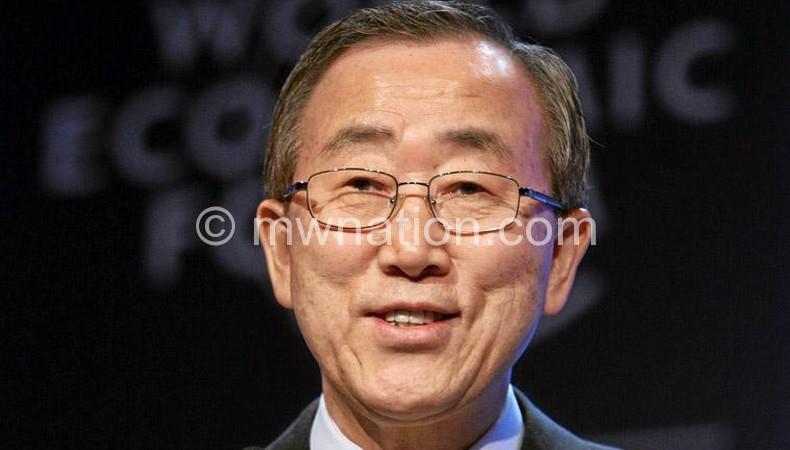 UN Secretary General Ban Kii Moon