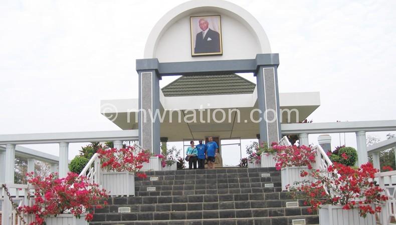 Founding president the late Hastings Kamuzu Banda mausoleum