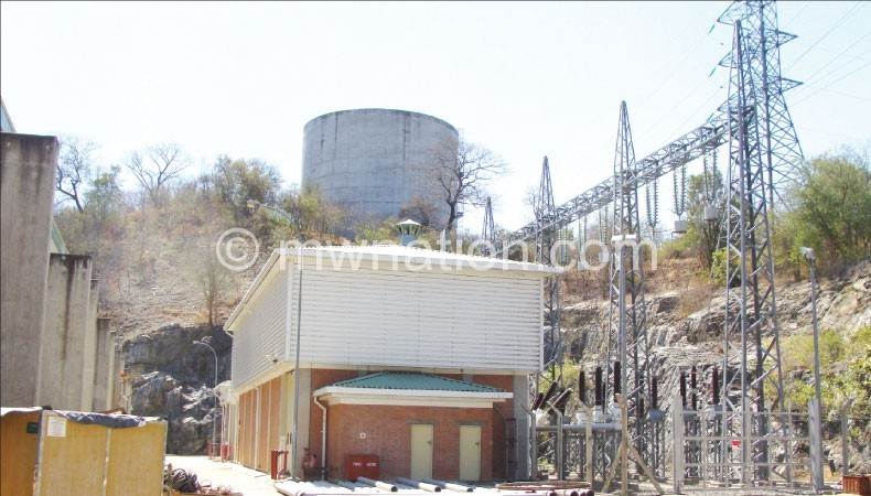 Low water levels this year drastically reduced Escom's capacity at Hydropower plant