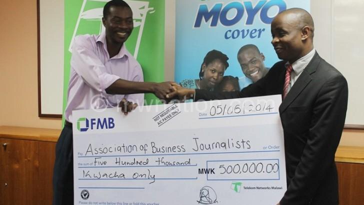 TNM donates K0.5m to ABJ