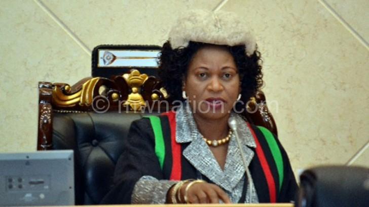 Esther Mcheka-Chilenje, first deputy speaker of parliament