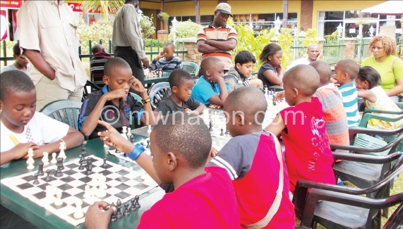 Chess players such as these are benefiting from the competition
