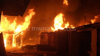 Karonga market up in flames, goods damaged