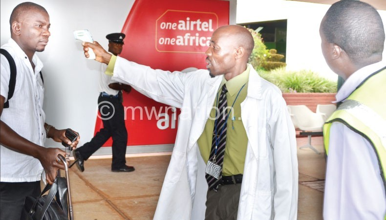Ebola screaning at the airport | The Nation Online