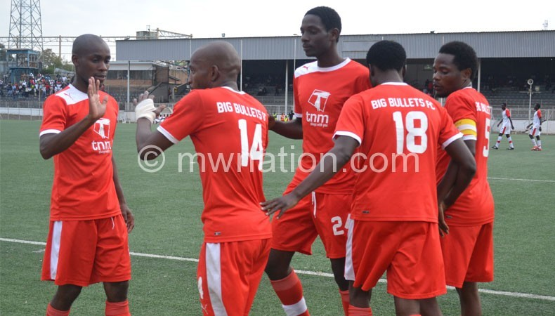 Have to manage the pressure of being at the top of the 2014 TNM Super League after going three points clear of now second-placed Moyale Barracks at the weekend: Bullets