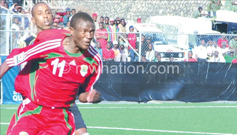 Flames striker Esau Kanyenda in  a previous Cosafa tournament