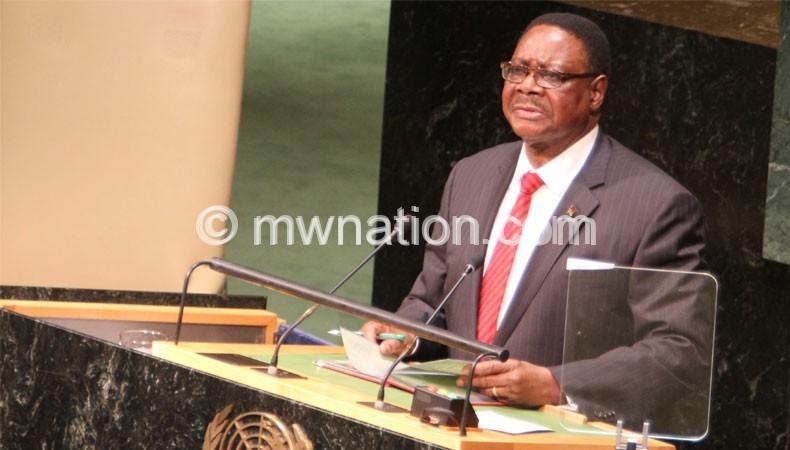 Mutharika addressing UN | The Nation Online