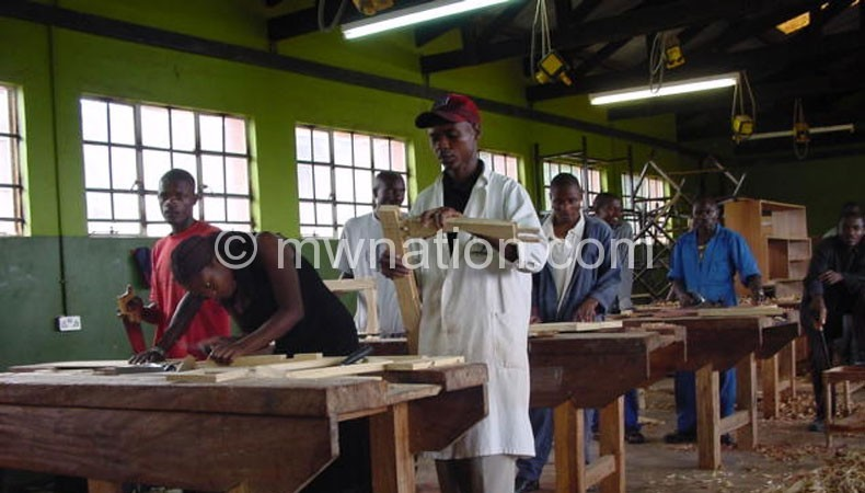 The youth need skills development such as carpentry
