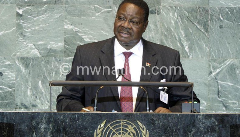 Mutharika: Meeting with EU to be held in America