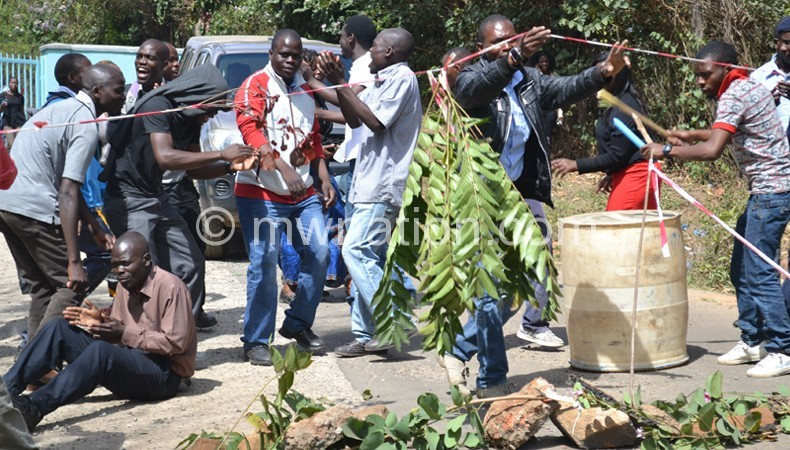 Employees of the Blantyre Water Board (BWB) during the previous strike
