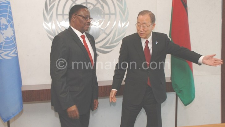 UN SG challenges Mutharika on Africa investment