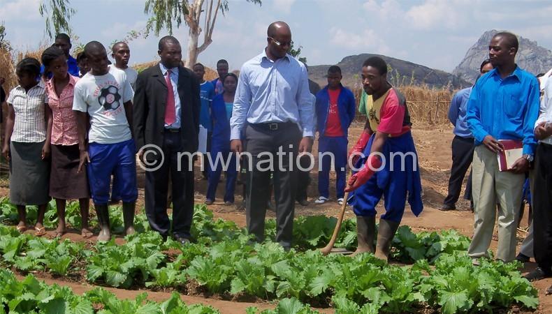 Flashback: Atupele Muluzi inspecting vegetable gardens