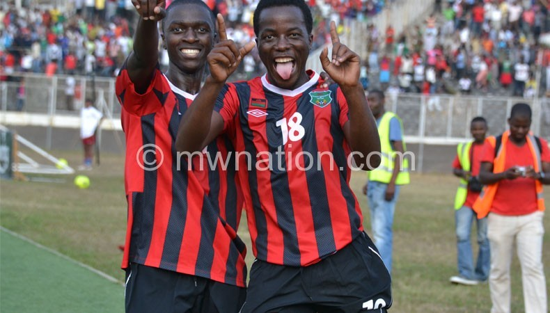 On the move: Ngalande (R)