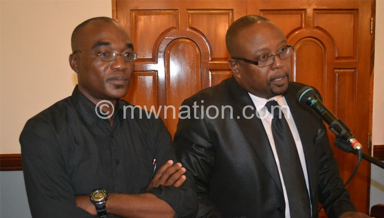 Ramadhan (L) and Msungama in an earlier press briefing