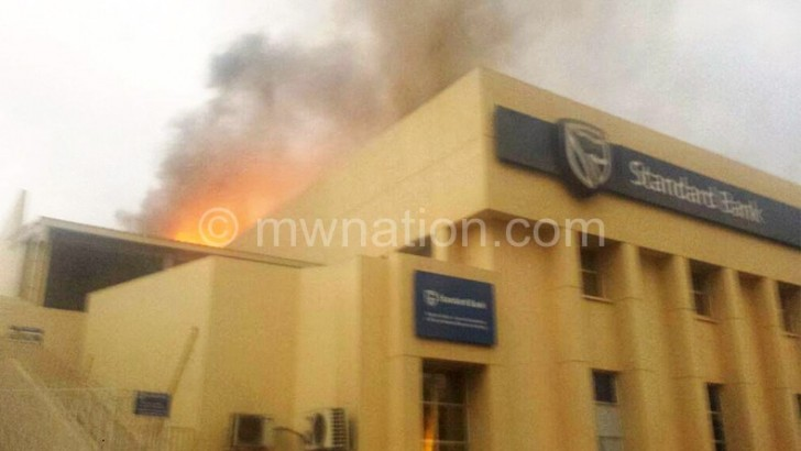 Standard Bank fire causes 'extensive damage'