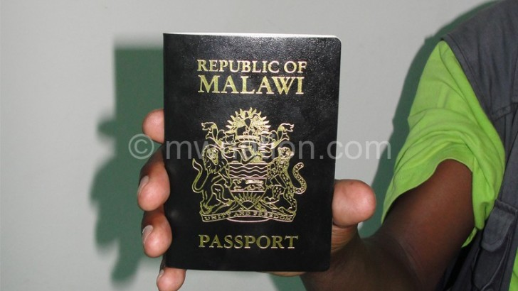 Mzuzu passport printing machine breaks down